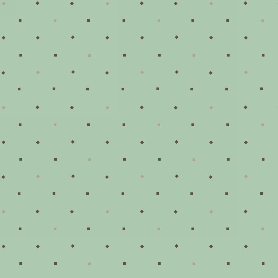 Bumble Garden -Green Dotted - F1407-11