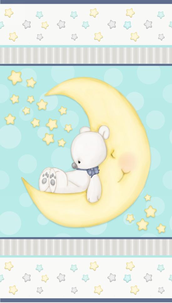 1438P-14 Panel 25 EACH Sleepy Bear 2-Ply Flannel