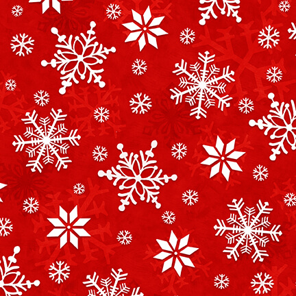 Winter Whimsy Red Snowflakes