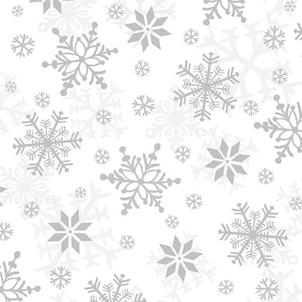 Winter Whimsy - Snowflakes Flannel