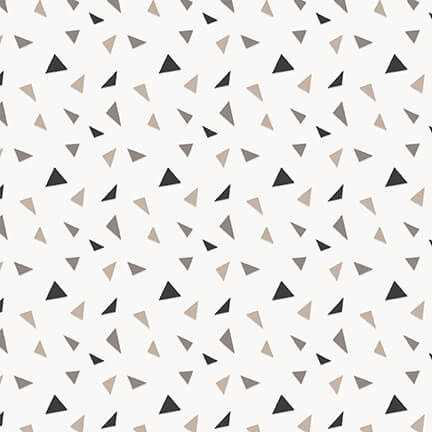 F1950-93 WHITE/MULTITossed Geometic Furrever Friends 2 Ply Flannel