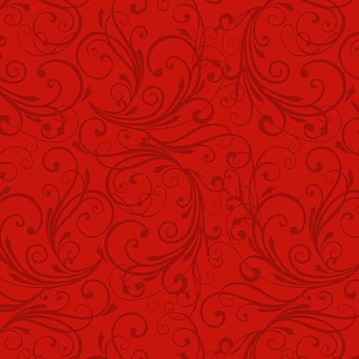 Winter Frost Flannel Red Swirl