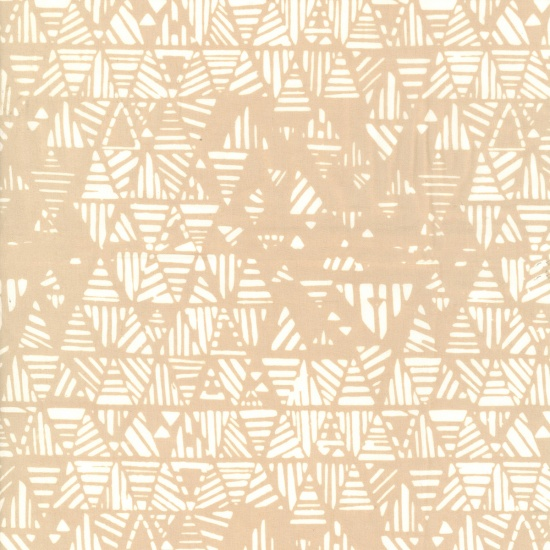 Hoffman Hand-Dyed Batiks - Stripey Triangles - Parchment