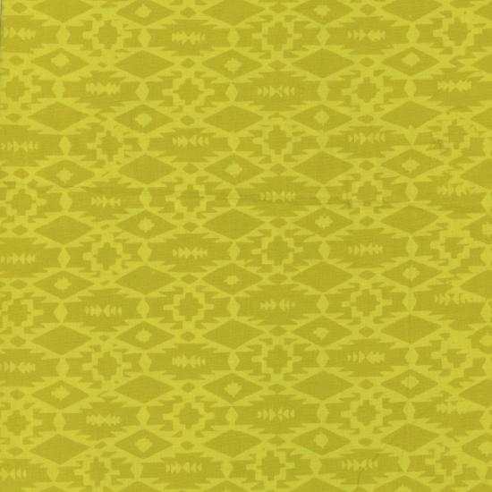Hoffman Indah Hand Dyed Batik - Southwestern Weave - Pineapple