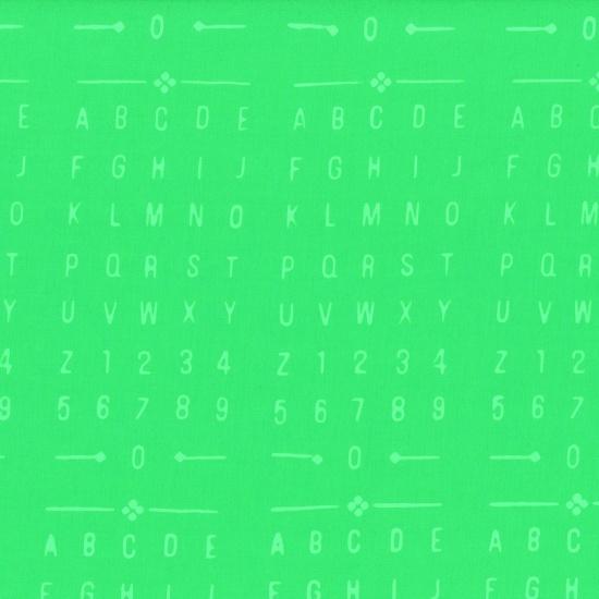 Gecko Batik Numbers Letters Green