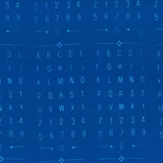 Blue Batik Waikiki Letters Numbers
