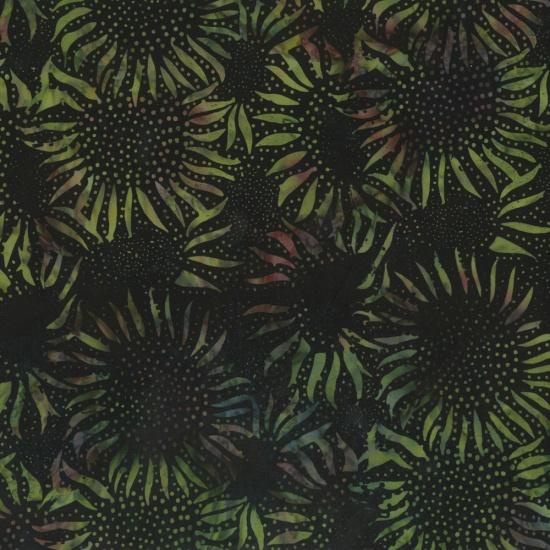 Hoffman Bali Batik 884-331 Herb Sunflowers