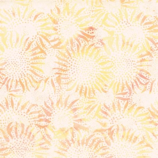 884-510-Plumeria Sunflower Dot Chop Hoffman Bali Batik