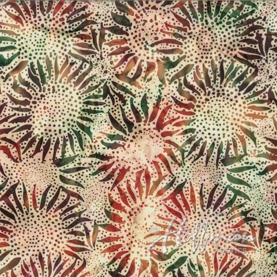 884-634 Global Spice Sunflower Dot Chop Hoffman Bali Batik