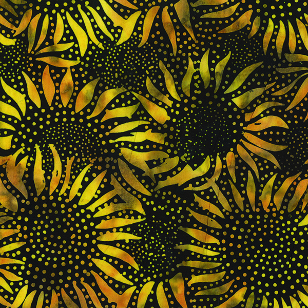 884-695-Bumble-Bee Sunflower Batiks Style 884