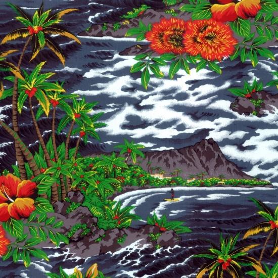 Tropical Island - Charcoal
