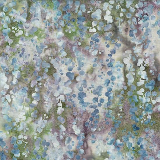 Hoffman Bali Batik MR13-146-Stone Green String of Pearls McKenna Ryan