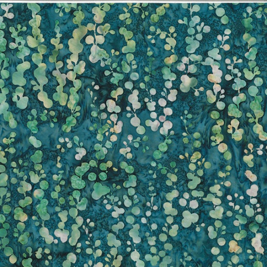 MR13-21-Teal String of Pearls Bali Batik McKenna Ryan of Pine Needles Designs Hoffman