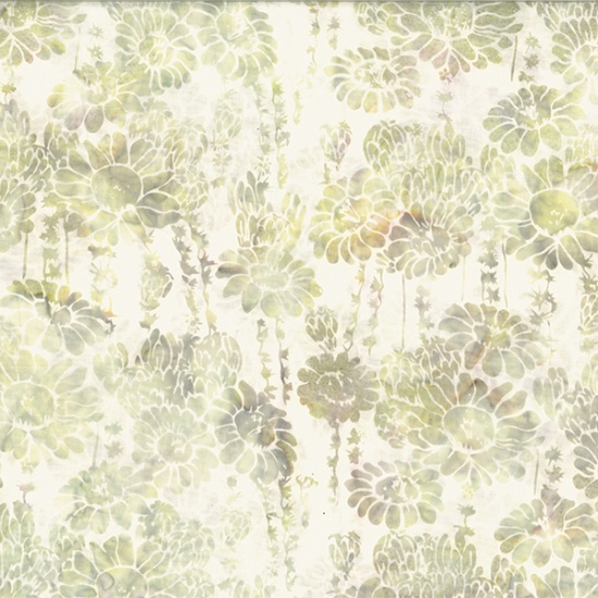 Hoffman Bali Batik MR14-134-Parchment Succulent & FlowersMcKenna Ryan