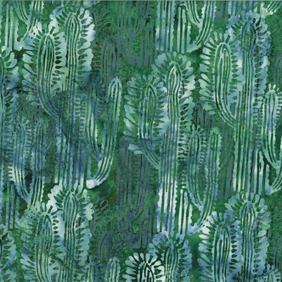 MR16-31-Emerald Catcus Bali Batik McKenna Ryan of Pine Needles Designs Hoffman