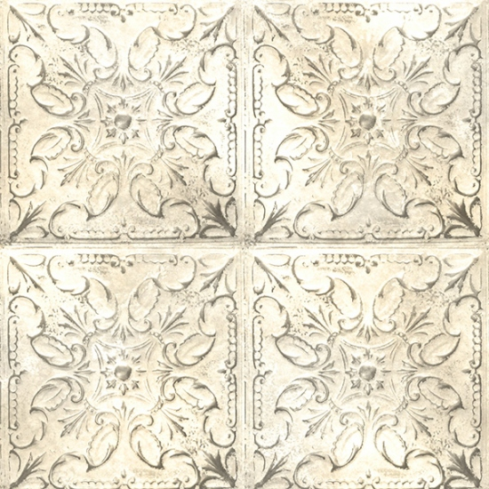 Vintage Farm House Tin Tile - Ivory