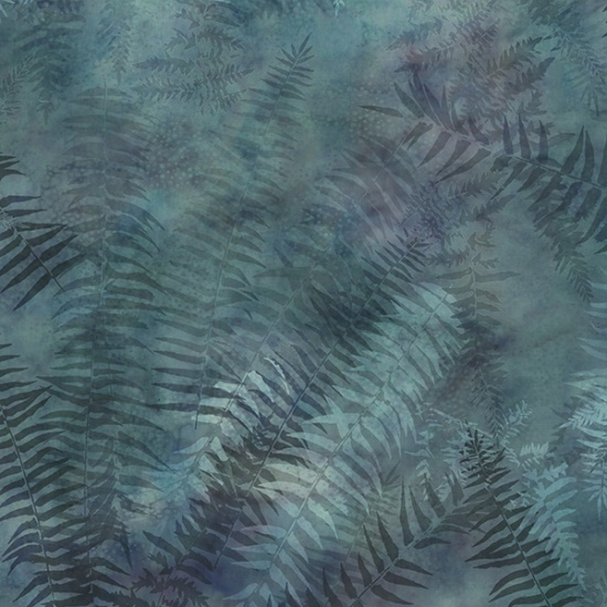 Painted Forest - Ferns<br>Dusty Teal - MRD3-D21