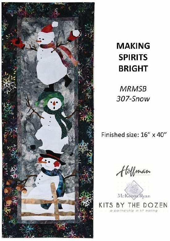 MRMSB-307-Snow, Making Spirits Bright Kit with Embellishment Kit