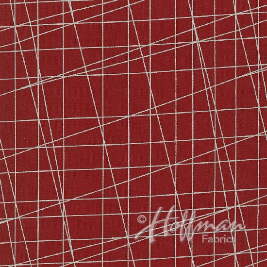 Sparkle and Fade Red-Silver Cross-Hatch
