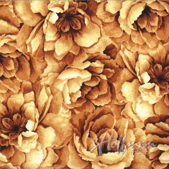 Large Rust Orange Flowers by Hoffman