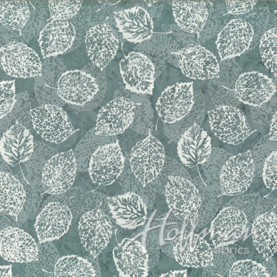 BALI BATIKS - LEAVES ARTIC BLUE - Q2133-621