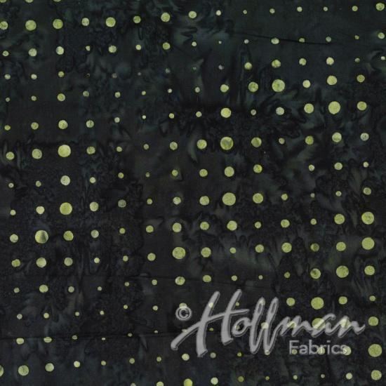 HOFF- Batik Pale Olive Dots on Black