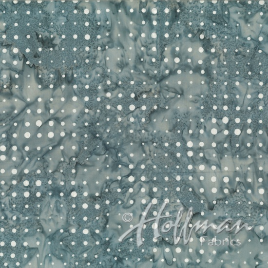 Hoffman Bail Batik Q2144-622 Cool Gray Dots