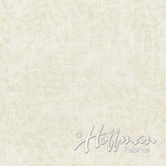 All Over Leaf Bali Batik Fabric - Oyster by Hoffman Fabrics