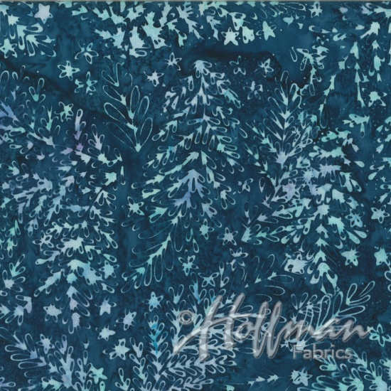 Hoffman Bail Batik Q2147-442 Flax All Over Leaf