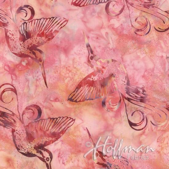 BALI BATIKS - HUMMINGBIRD - MARMALADE - Q2149-416