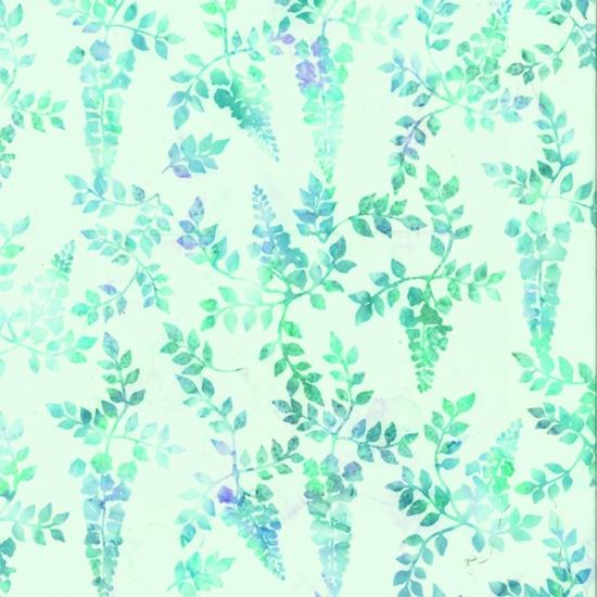 Bali Batiks - Lavender Vines - Arctic Blue - Q2192-621
