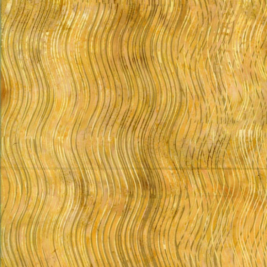 Bali Batiks - Wavy Lines Goldenrod - Q2202-455