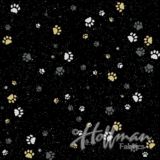 Full Moon-Black Paws w/Metallic