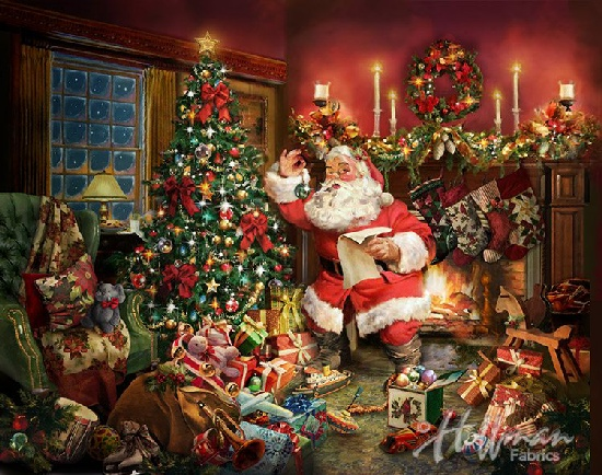 Ol Saint Nick Christmas Santa Claus Digital Panel