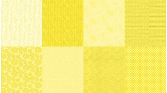 Details - 8 Fat Quarters - Lemon