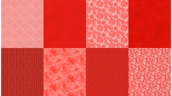 Details Fat Quarter Panel Ruby Red