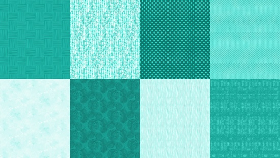 Item#12015.M - Turquoise Details 2 YD Panel - Hoffman
