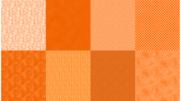 Details Fat Quarter Panel Cadmium Orange