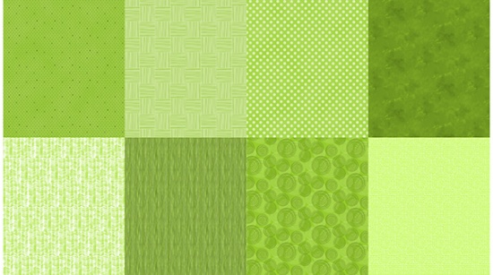 Details Fat Quarter Panel Lime Green
