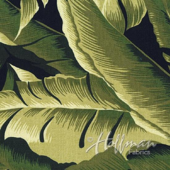 On The Lanai Barkcloth - Olive