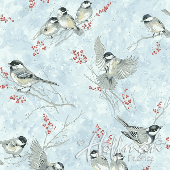 Chickadees Ice-Blue-Silver