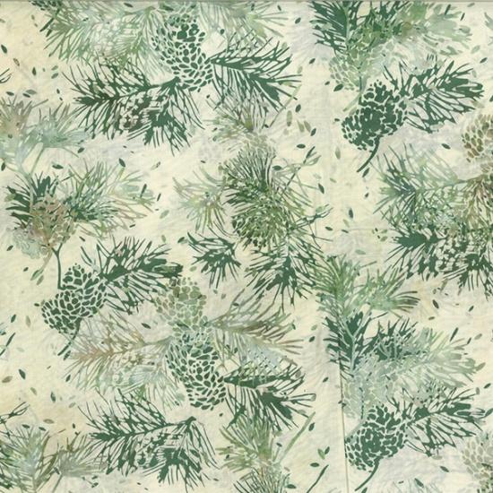 Hoffman Bali Batik R2205-20-Natural Pinecones