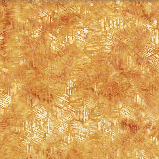 Hoffman Bali BatikR2215-118-Honey Textured Hexagon