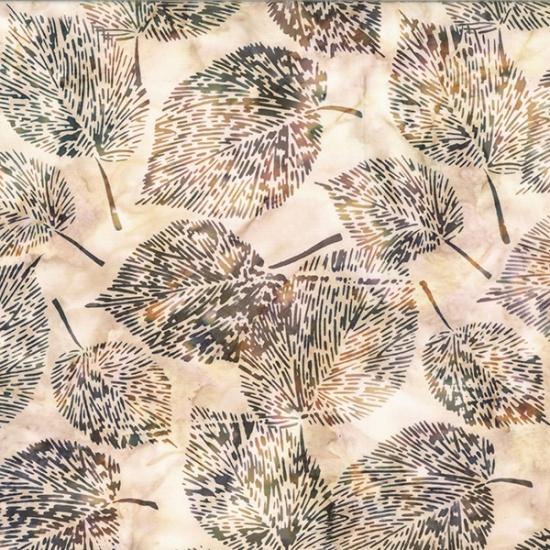 Bali Batiks Sand Dollar Leaves