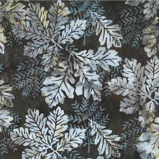 Hoffman Bali BatikR2232-514-Brown Sugar Oak Leaves