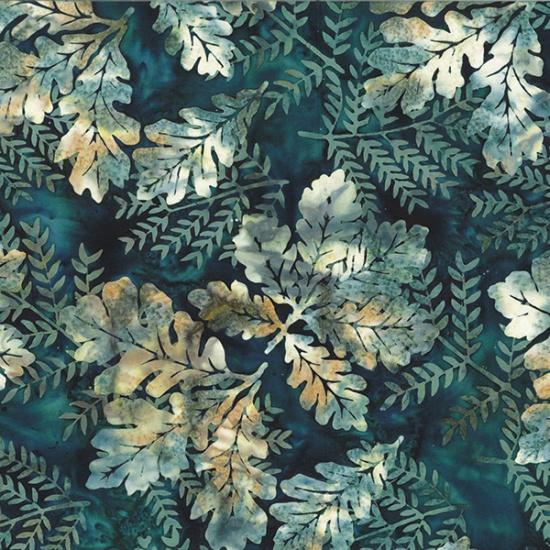 Bali Batik - Oak Leaves - Bayou