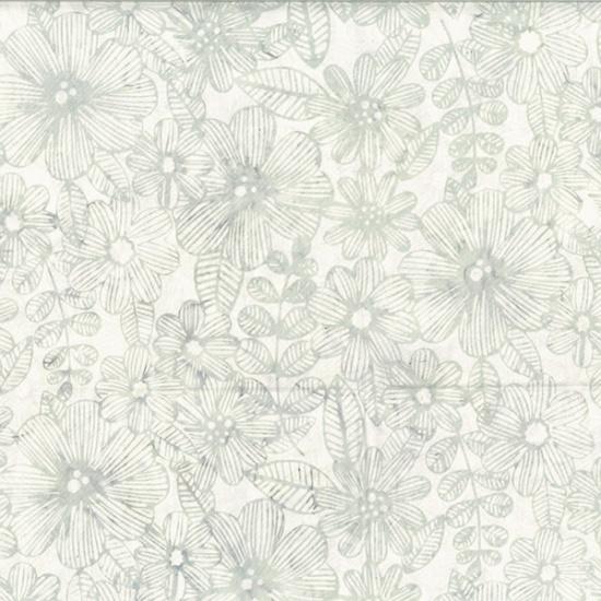 Hoffman Batik - R2274 521 Line Floral Mist Bare Essentials