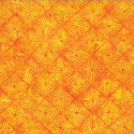 R2281-224 Poppy Summertime Sweetness Optical Illusion Bali Batik Hoffman