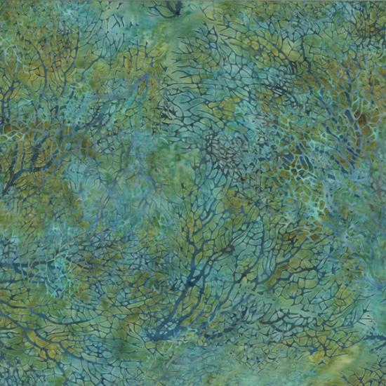 HOFF- Reef River Run Batik Teal Seaweed