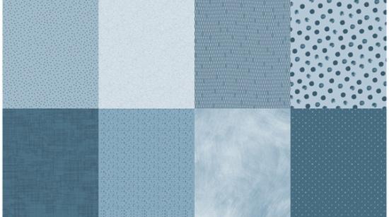 Details R4577-D7-Dusty Blue (8 Fat Quarter Panel)